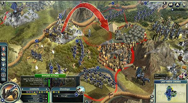 Captura de Sid Meier's Civilization V.