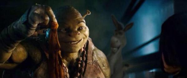 Algunos piensan que el nuevo Michelangelo se parece a Shrek.  Foto: Twitter.