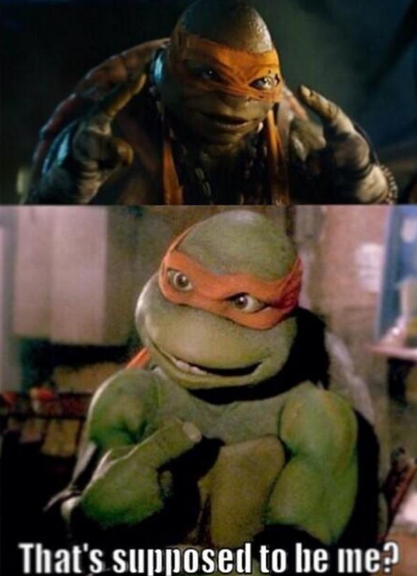 """Otros pusieron al Michelangelo de las primeras películas a cuestionarse su """"makeover""""."""