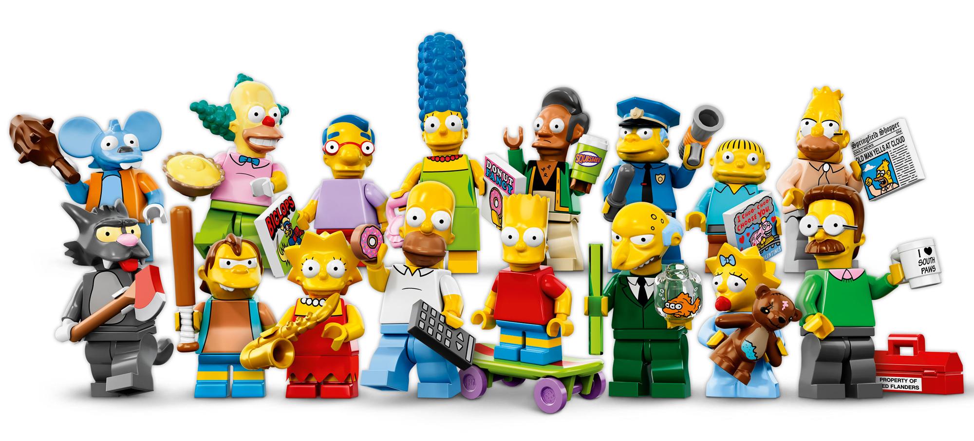 La colección completa de LEGO Simpsons Minifigures.