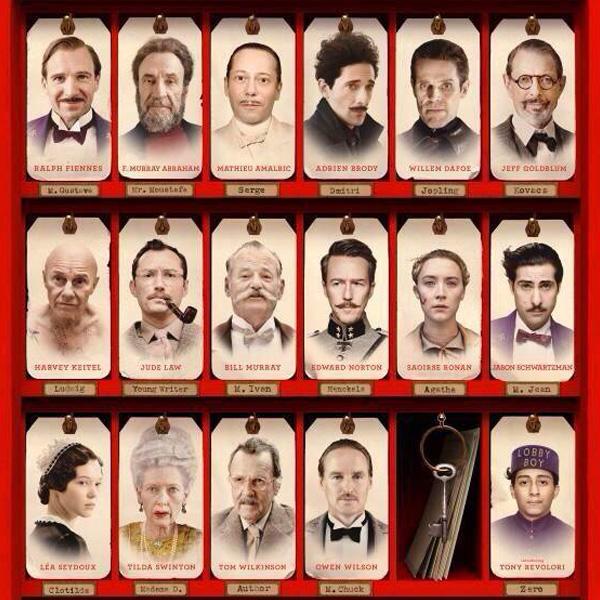 """Elenco de """"The Grand Budapest Hotel""""."""