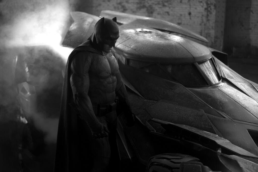 Primera foto de Ben Affleck como Batman.  Foto: Zach Snyder.