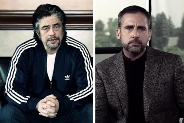 """Benicio del Toro y Steve Carell son algunos de los actores que participaron de la campaña """"1 is 2 Many""""."""