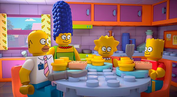 """Los Simpson son de LEGO en """"Brick Like Me""""."""