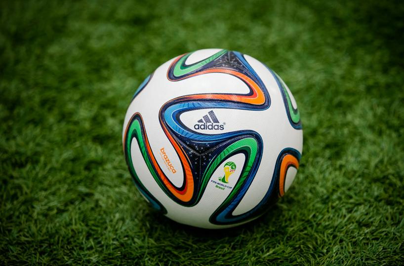 """La """"Brazuca"""" de Adidas, la bola oficial de la Copa Mundial 2014.  Foto: DesignBoom.com"""