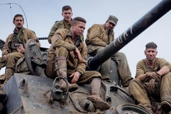 """Los protagonistas de """"Fury"""".  Foto: Sony Pictures."""