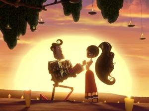 """Manolo y María en la película """"The Book of Life"""""""