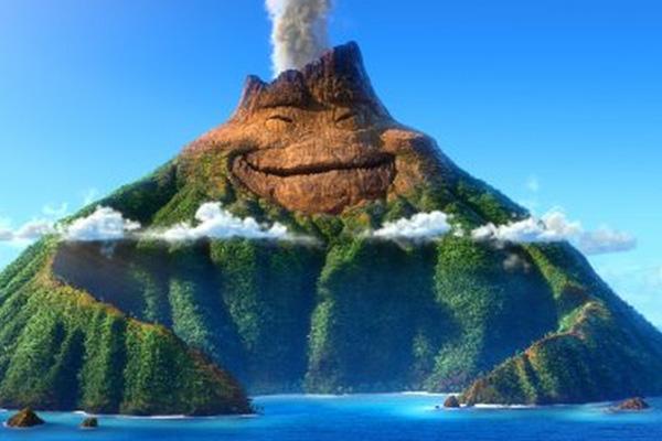 """""""Lava"""" relata la historia de un volcán que sueña en grande, naturalmente... Foto: Disney-Pixar."""