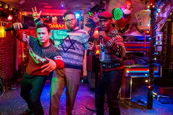 """Joseph Gordon-Levitt, Seth Rogen y Anthony Mackie protagonizan """"The Night Before"""".  Foto: Sony Pictures."""