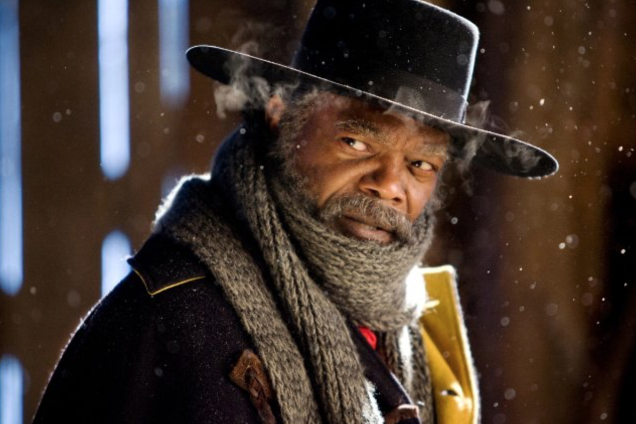 "Samuel L. Jackson en ""The Hateful Eight.  Foto: The Weinstein Company."