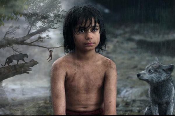"Neel Sethi es Mowgli en ""The Jungle Book"".  Montaje: Joz Terra."