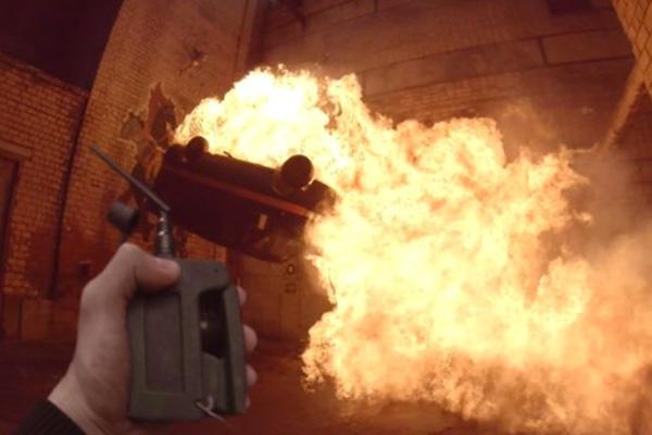 """Caos, explosiones y violencia predominan en """"Hardcore Henry"""".  Foto: STX Productions."""