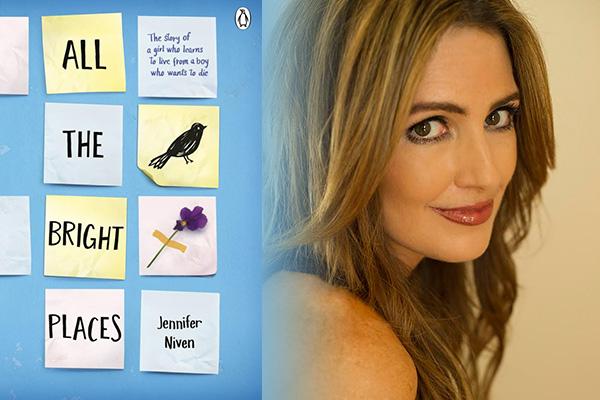 """La autora Jennifer Niven y la portada de su libro """"All the Bright Places"""".  Foto suministrada."""
