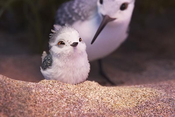 Piper y su madre, en el nuevo corto de Pixar.