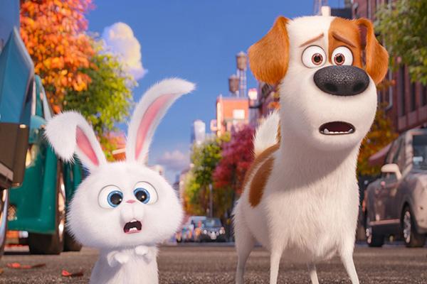 "Snowball y Max en ""The Secret Life of Pets"".  Foto: Universal Pictures."