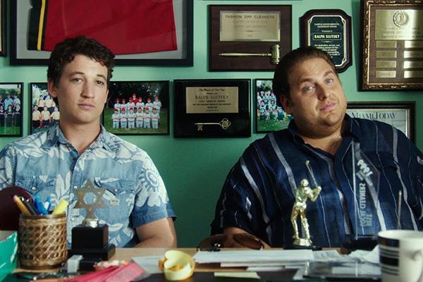"Miles Teller y Jonah Hill protagonizan ""War Dogs""."