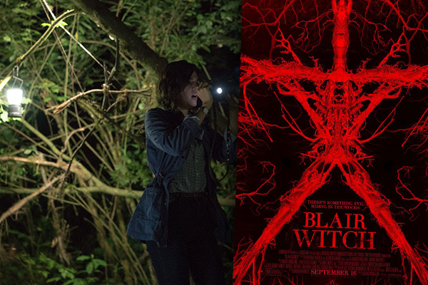 "Callie Hernández en ""Blair Witch""."