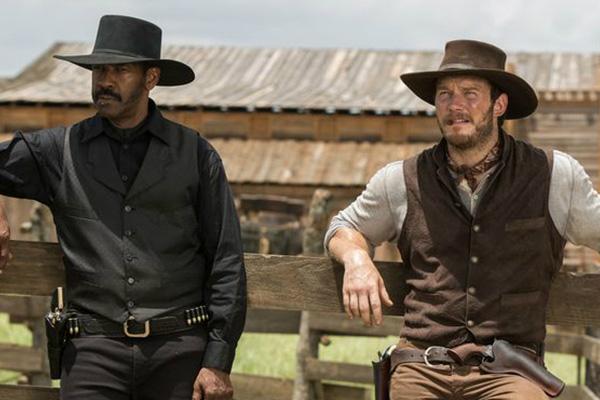 "Denzel Washington y Chris Pratt protagonizan ""The Magnificent Seven""."