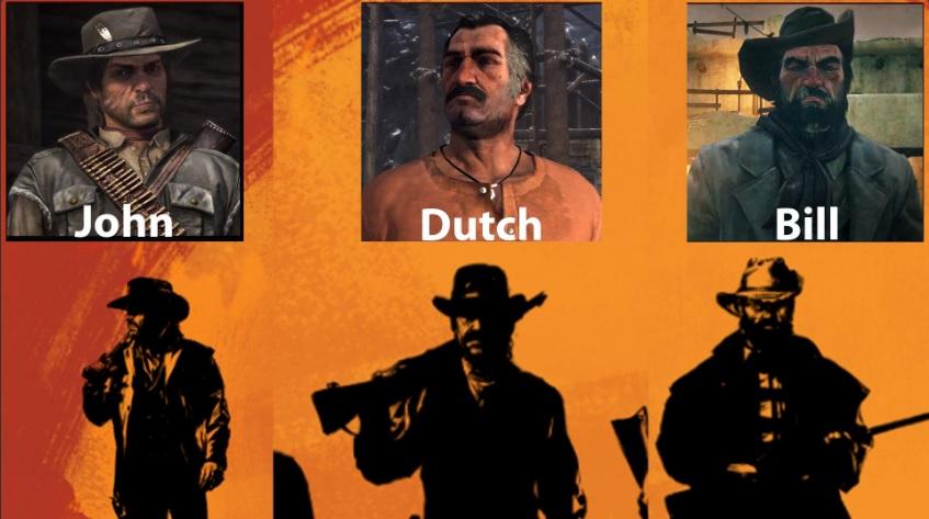 Comparación de un arte de Rockstar con los personajes de Red Dead Redemption. Serán ellos? Foto, reddit.com