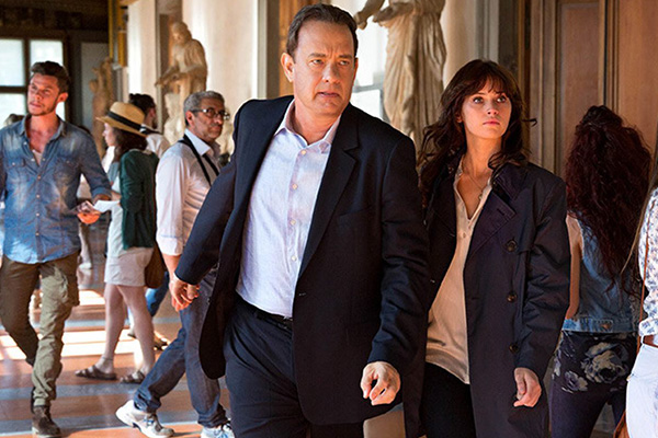 "Tom Hanks y Felicity Jones protagonizan ""Inferno"".  Foto: Imagine Entertainment."