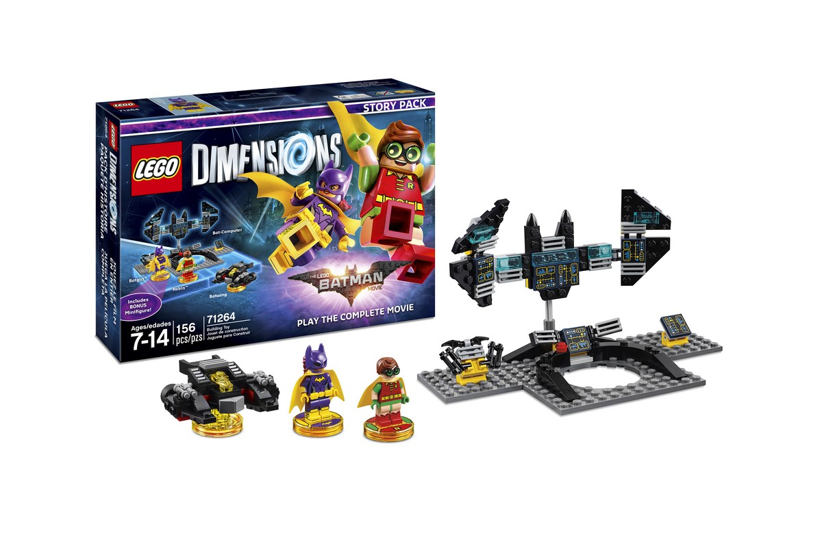 71264 LEGO Dimensions -The LEGO Batman Movie Story Pack, $49.99 / 156 piezas.